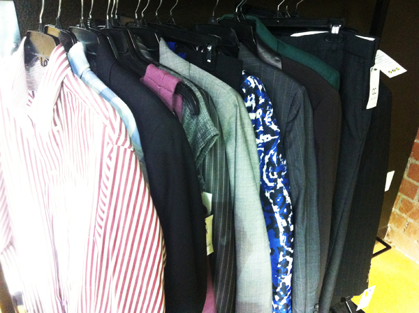 An entire wardrobe of interview-appropriate clothing found at the OC Goodwill Boutique