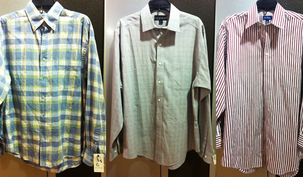Men's shirts for interviews, found at the OC Goodwill Boutique