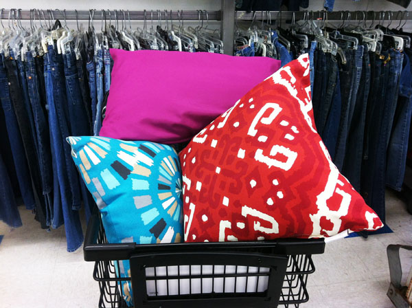 throw pillows are a great way to add color