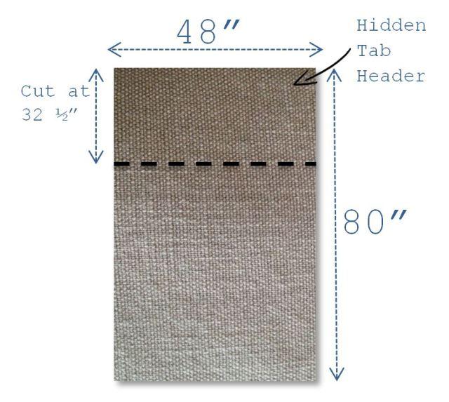 DIY Drapery Panels - Gray Panels to Cut