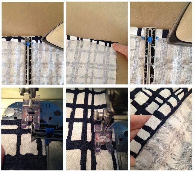 DIY Drapery Panels - Sewing Hem