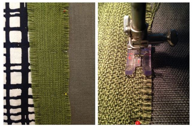 DIY Drapery Panels - Sewing on Band