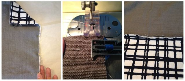 DIY Drapery Panels - Sewing Top and Bottom Together