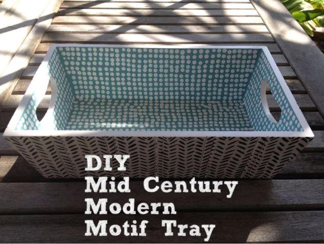 DIY Mid Century Modern Motif Tray