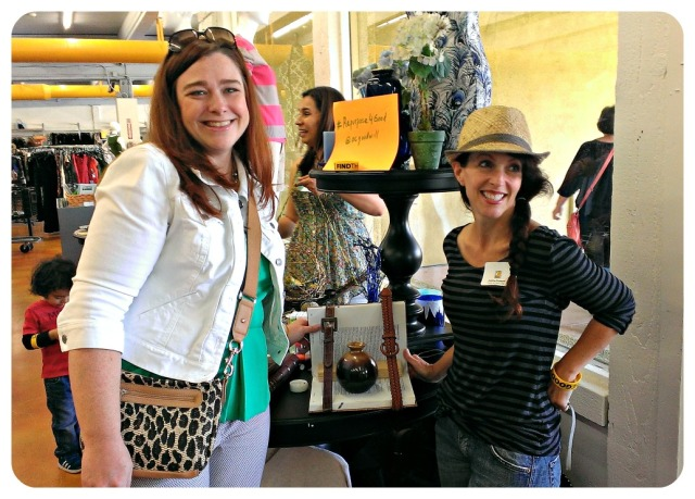 DIY Divas Janeane and Justine showcasing their urban belt book, book shelf