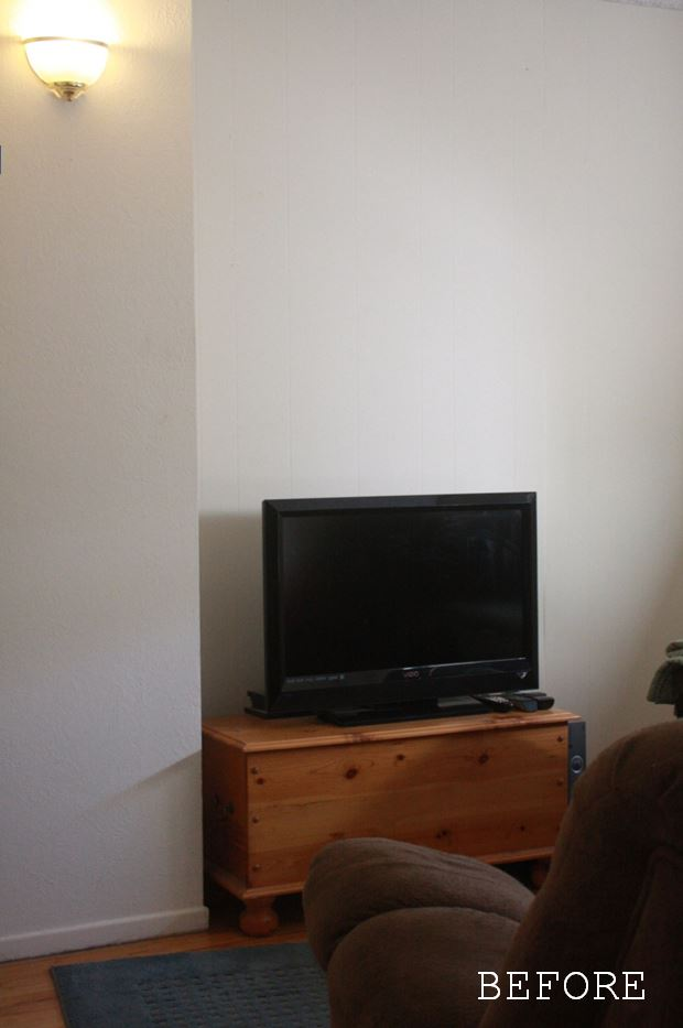 TV Room Makeover Before View 1