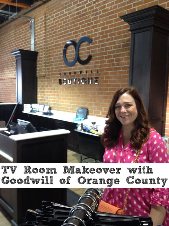 TV Room Makeover with Goodwill of Orange County