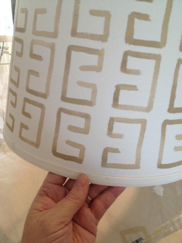 DIY Painted Lamp Shade