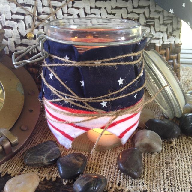 DIY Patriotic Candleholder