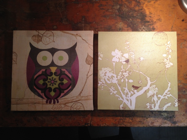 Art Canvases from Goodwill ready for a new look