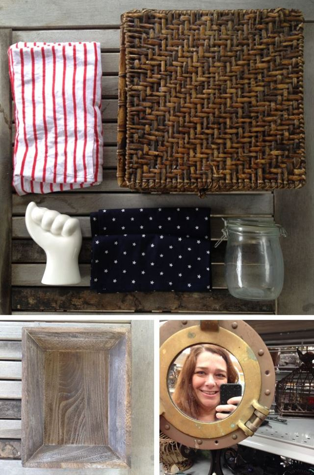 DIY Patriotic Decor Supplies from Goodwill