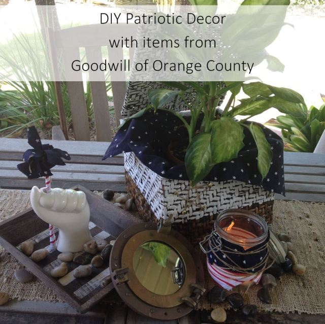 DIY Patriotic Decor with items from Goodwill of OC