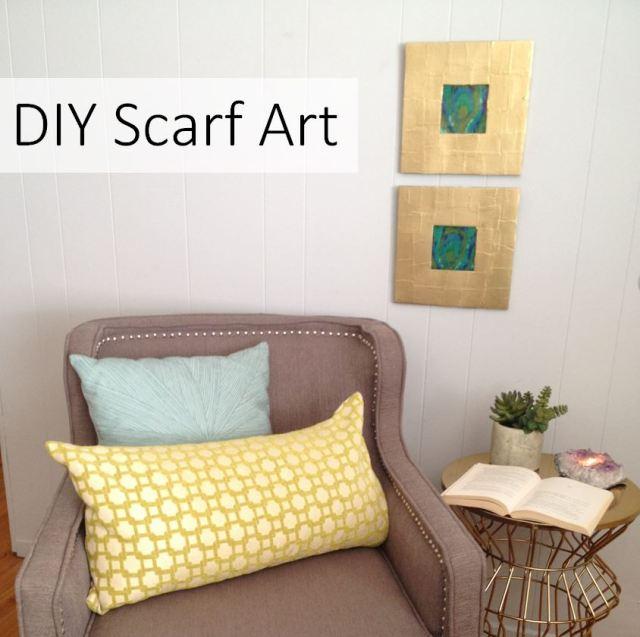 DIY Scarf Art