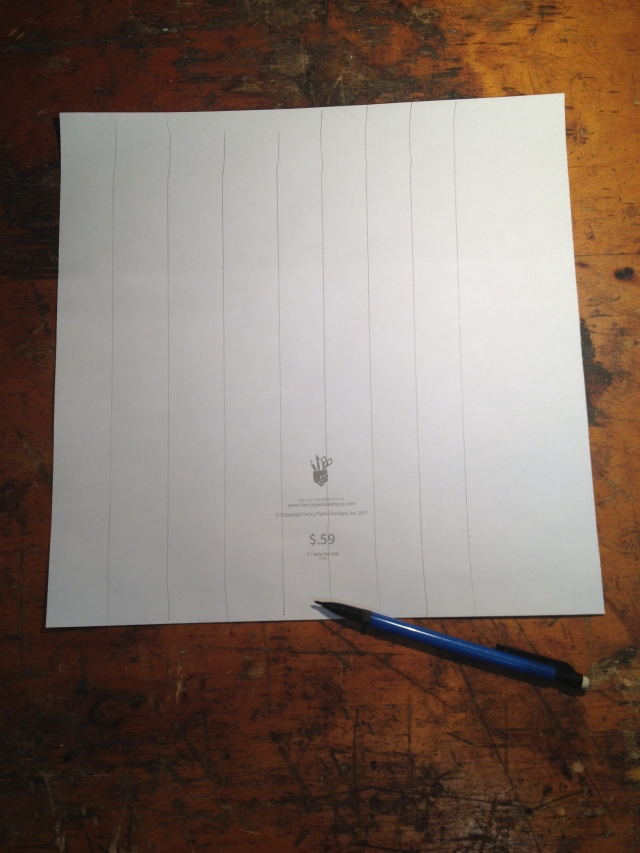 Step 2-Continue drawing cut lines for all four edges of each canvas
