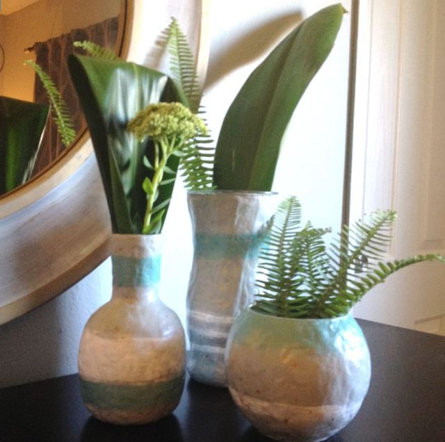Upcycled Glass Vases