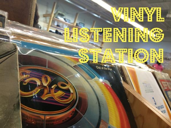 vinyl listening station