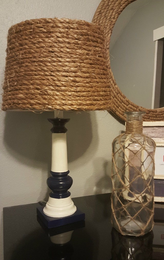 ways to upcycle and old lamp