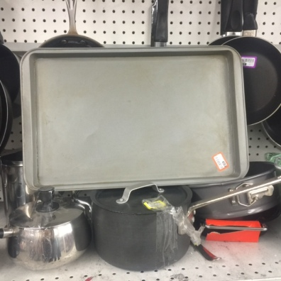 cookie sheet at Goodwill