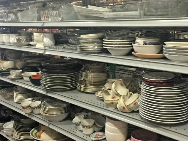 Goodwill teacups in store