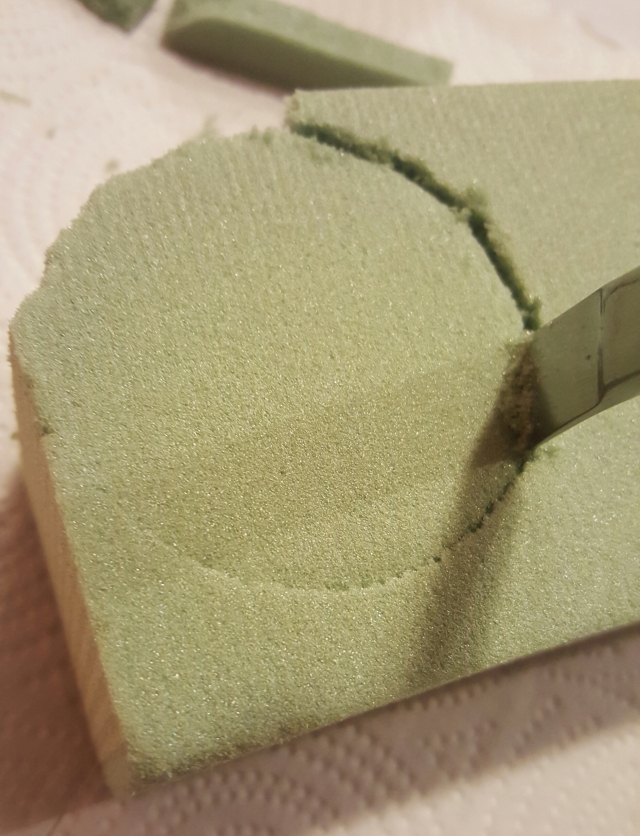 DIY teapot centerpiece steps