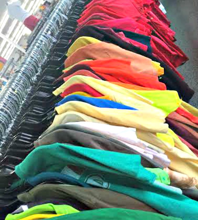 OC Goodwill tshirts sorted by color