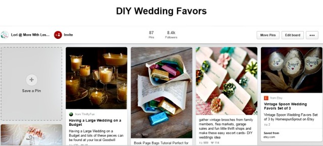 DIY pinterest wedding favors