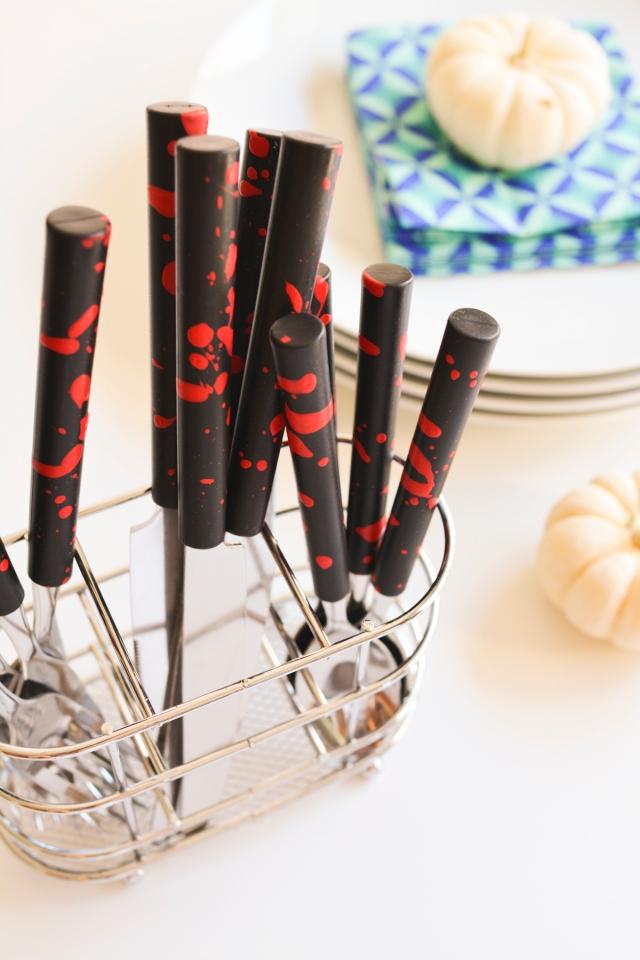 diy-painted-silverware-for-halloween